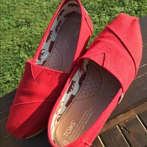 Toms Red Classic Canvas